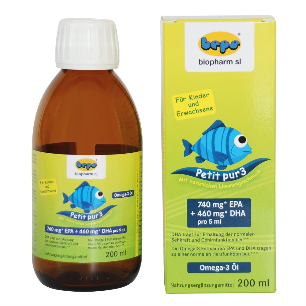 Petit-pur3 - 200 ml LIQUID omega-3 for kids and adults