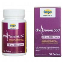 DHA Femme 550 Reinstes DHA und EPA für schwangere- und stillende-Mütter - nur 1 Kapsel/Tag.