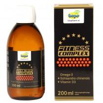 FITNESS COMPLEX – 200 ml flüssiges Omega-3, mit Vitamin D3 und Schisandra-CO2-Fruchtextrakt (Anti-Stress Formel)